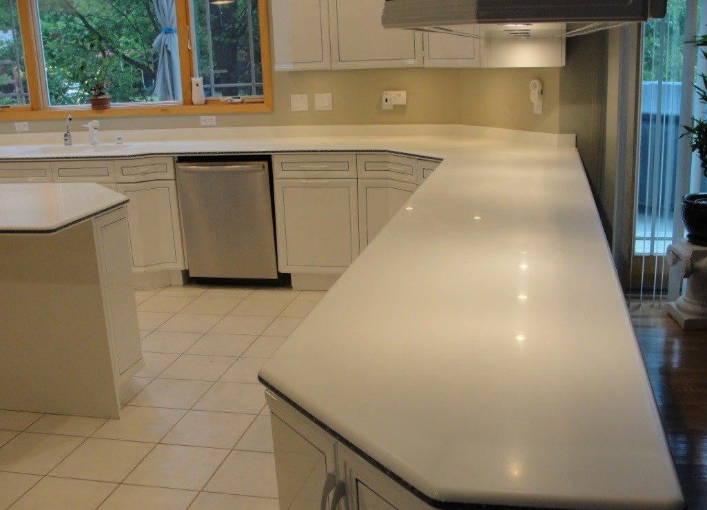 corian, solid surface countertop, solid surface scratches, corian scratch remover, corian scratch removal, watermist refinish, refinish, repair, surface link, solid surface, discoloration, countertop repair, countertop refinish