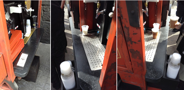 harry potter world ButterBeer cart scratches and dull surfaces