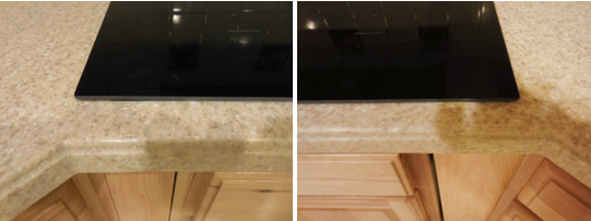 Surface Link countertop cooktop replacement before and after