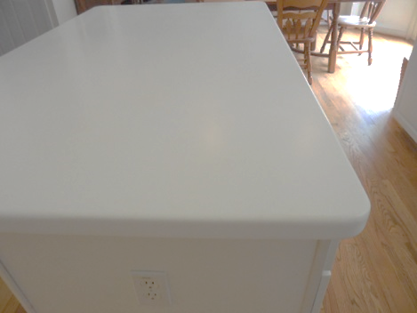 Repaired solid surface, surface link repair, solid surface, corian, repair, after photo